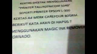 how remove printer ink from paper ,for test only remove dot matrik ink printer ,inject print ink