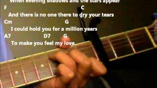 Make You Feel My Love (Adele Version) Practice Video With Chords And Lyrics