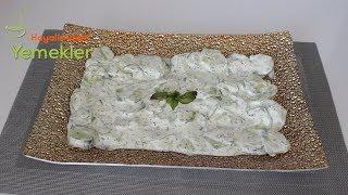 Yoğurtlu Salatalık Mezesi-Yoğurtlu Salata Tarifleri / Hayalimdeki Yemekler
