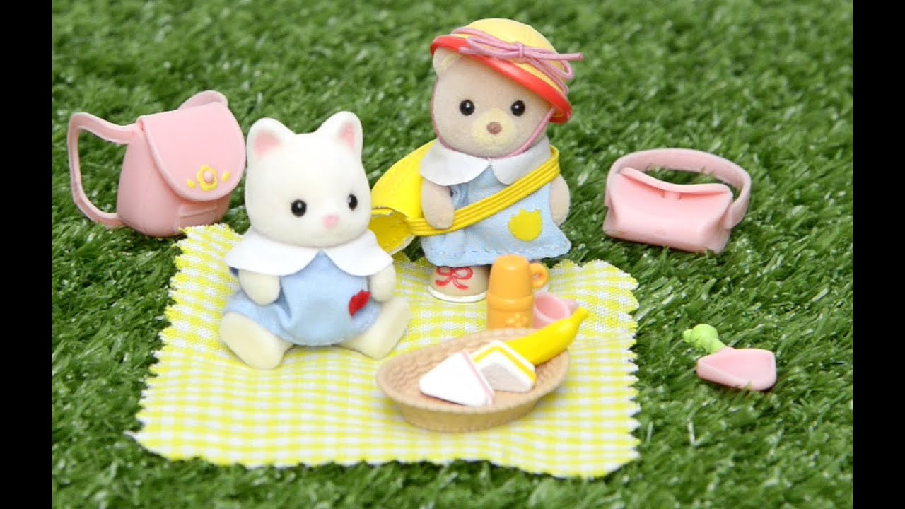 Sylvanian Families Calico Critters Nursery Picnic Set And Baby Bear Unboxing Play Kids Toys