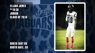South East Jaguars Elijah Jones 2014 Junior Season Highlights