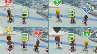 We Ski Nintendo Wii Gameplay - 5 Way Race