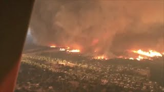 Watch: Aerial View Of 'Fire Tornado' That Killed California Firefighter
