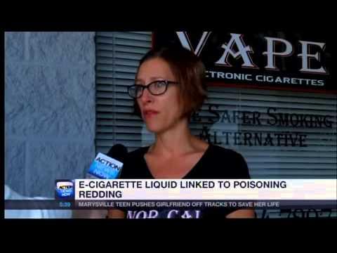 E-cigarette liquid linked to poisoning