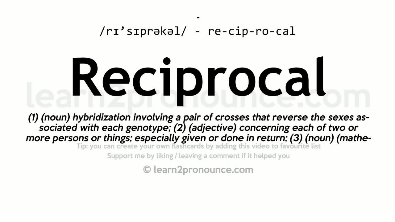 reciprocal deals definition