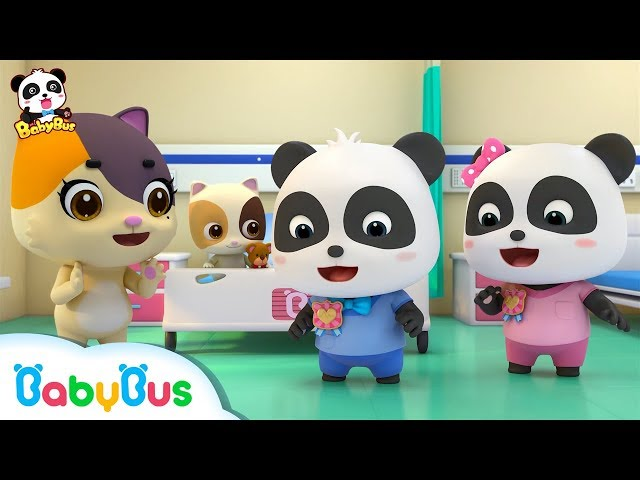 Baby Kitten is Scared of Hospital | Be A Brave Kid | Doctor Pretend Play | Panda Cartoon | BabyBus