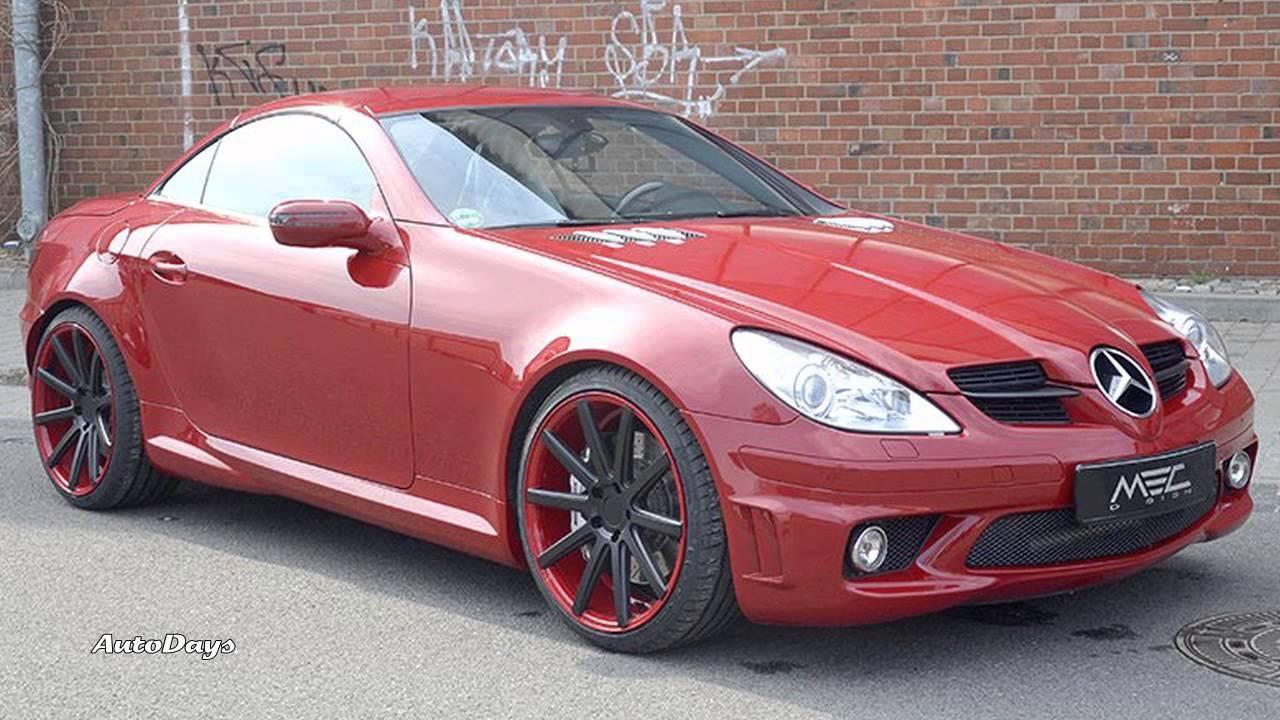 modefied red mercedes benz r171 slk 55 amg by mec design. Black Bedroom Furniture Sets. Home Design Ideas