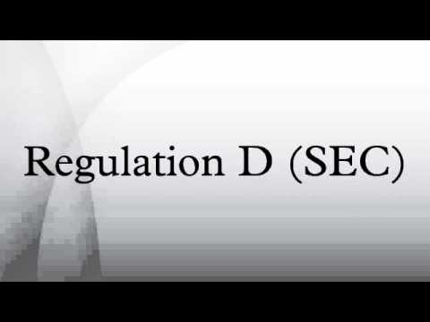 Regulation D (SEC)