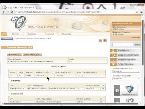Como fazer o download do XML da NFE