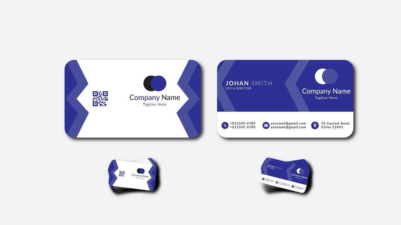 Professional Business Card Design In Illustrators   Modern Business Card   Graphic Hunters