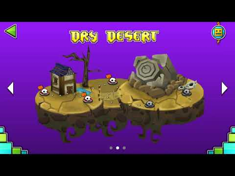 DRY DESERT 100% (1-5 Levels) (Test Fan-Made) | Geometry Dash World | New Island
