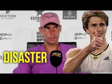 """Rafael Nadal """"I did a DISASTER"""" QF Press Conference after loss against Zverev Madrid 2021"""