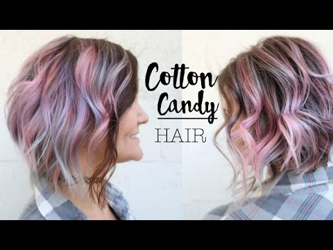 Cotton Candy Pink And Blue Pastel Hair Color Tutorial ...