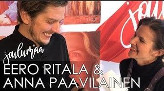 JOULUMAAN Eero Ritala ja Anna Paavilainen haastattelevat toisiaan