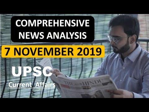 7 NOVEMBER 2019 The Hindu Newspaper & EDITORIAL Analysis | Daily Current Affairs