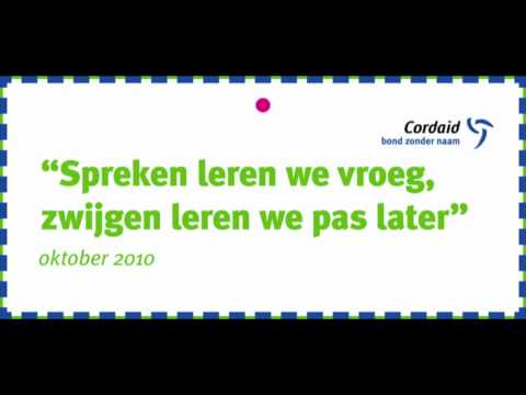 bond zonder naam spreuken Cordaid Bond zonder Naam spreuken 2010 2011   YouTube bond zonder naam spreuken