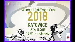 2018 Women's Foil World Cup Katowice T64 - T8 - Piste Blue