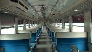 ミャンマー国鉄 元JR東海キハ48 車内の様子(Mahlwagon→Pazundaung)