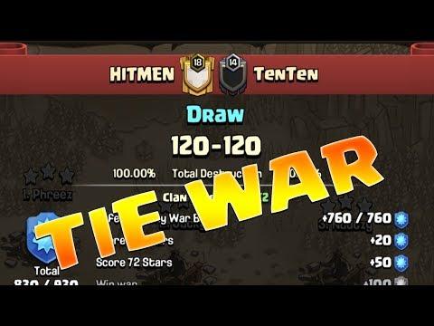Clash of Clans TIE WAR | TH11 3 Star Gameplay By Team HITMEN