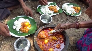 Egg Masala Curry prepared in my Village by Grandma | Simple Egg Curry Recipe | Village Food
