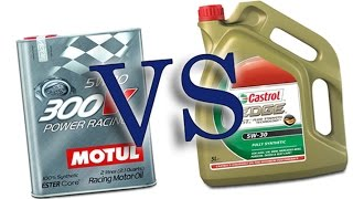 Castrol Edge Titanium Fst 5W30 vs Motul 300V Power Racing 5W30 cold engine oil test -24°C