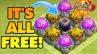 Clash Of Clans | TAKE ALL MY LOOT FOR FREE TROLL! | EPIC TROLL BASE! | Trolling Champions!