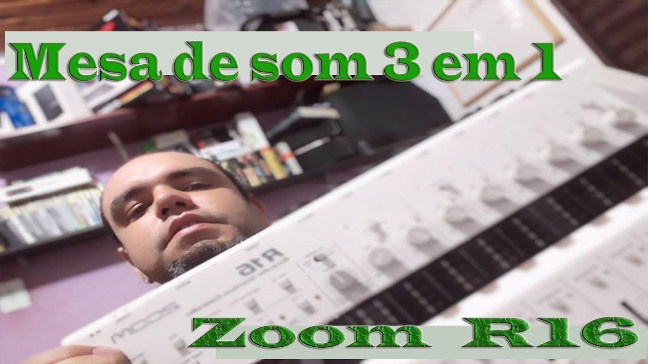 mesa de som 3 em 1 zoom r16 vale a pena review youtube. Black Bedroom Furniture Sets. Home Design Ideas