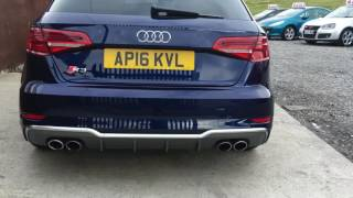 2016 audi s3 8v quattro s tronic facelift navara blue walkaround video