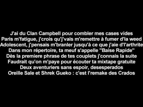 Seth Gueko Feat Orelsan - Lève Les Draps - Paroles.