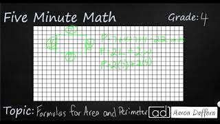4th Grade Math Formulas for Area and Perimeter