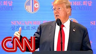 Trump takes questions on North Korea deal