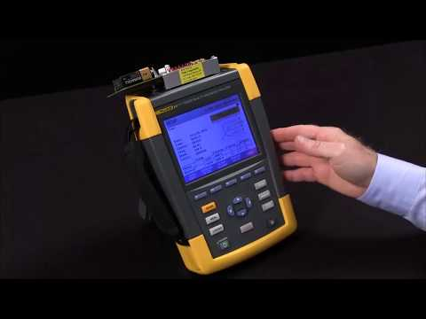 How To Perform A Logger Set Up On The Fluke 435 Ii Youtube