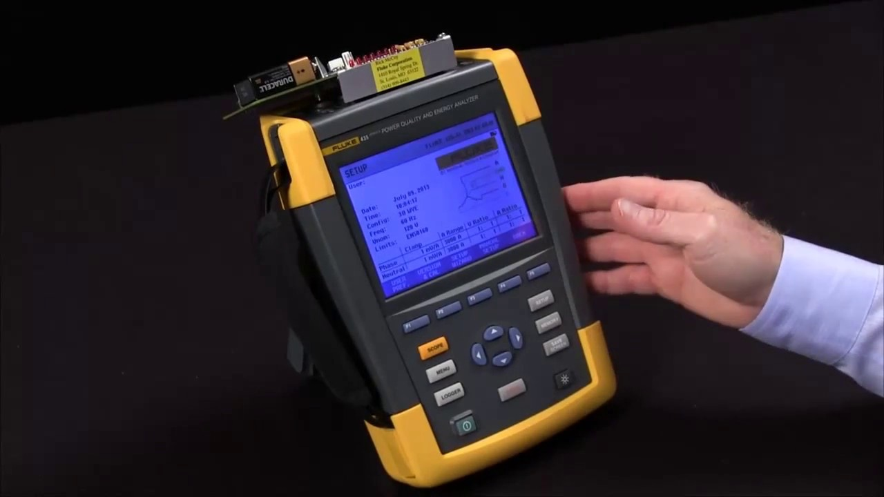 How To Perform A Transient Capture On The Fluke 435 Ii Power Analyzer Youtube