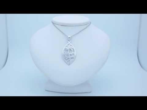 Rhodium-Plated 925 Sterling Silver Guam Pendant