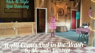 Download 'It All Comes Out in the Wash' Line Dance  www.facebook.com/KickNStyle Mp3 and Videos