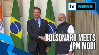 Watch: Jair Bolsonaro meets PM Modi, EAM Jaishankar in New Delhi