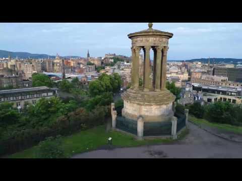 Calton Hill by Drone
