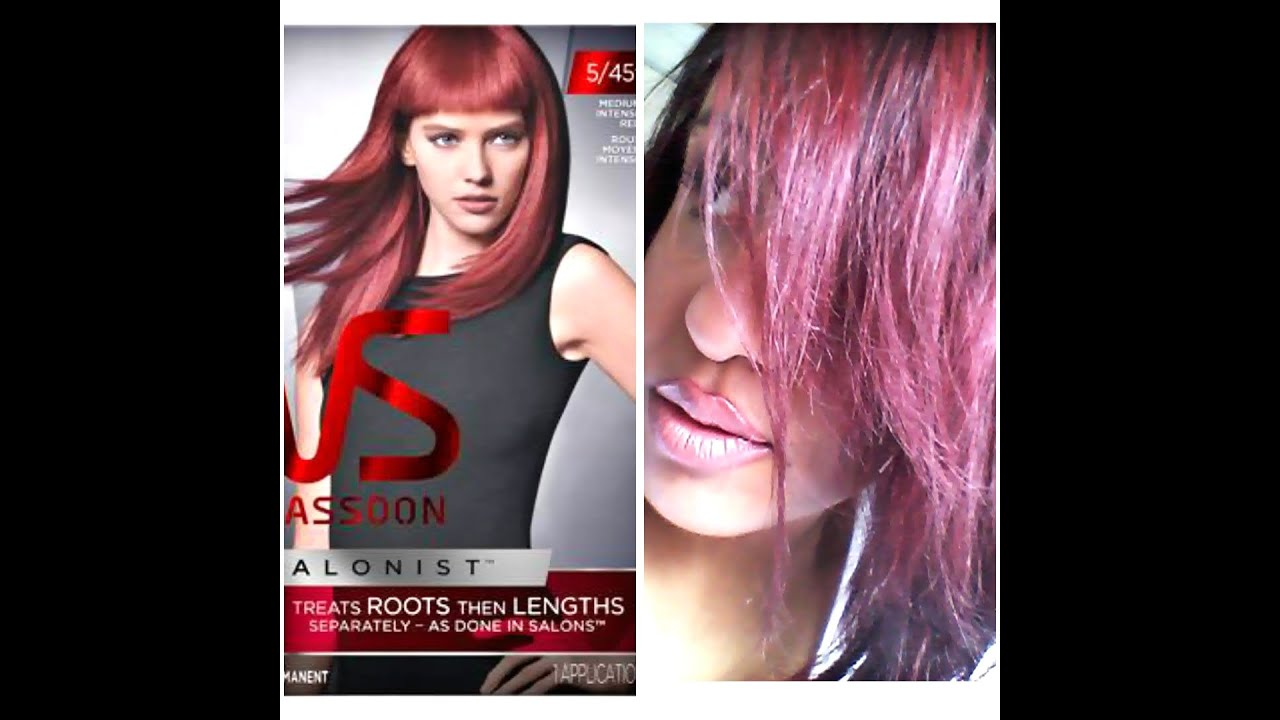 Review Vidal Sasson Salonist Hair Dye Youtube