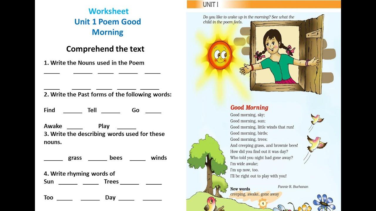 medium resolution of NCERT English Class 3 Poem 1 Good Morning Part 3 - YouTube