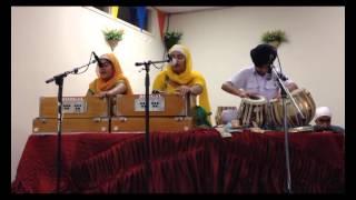 gurdwara sikh sangat  tauranga nz live kirtan bibi jasneet kaur & sathi july2014
