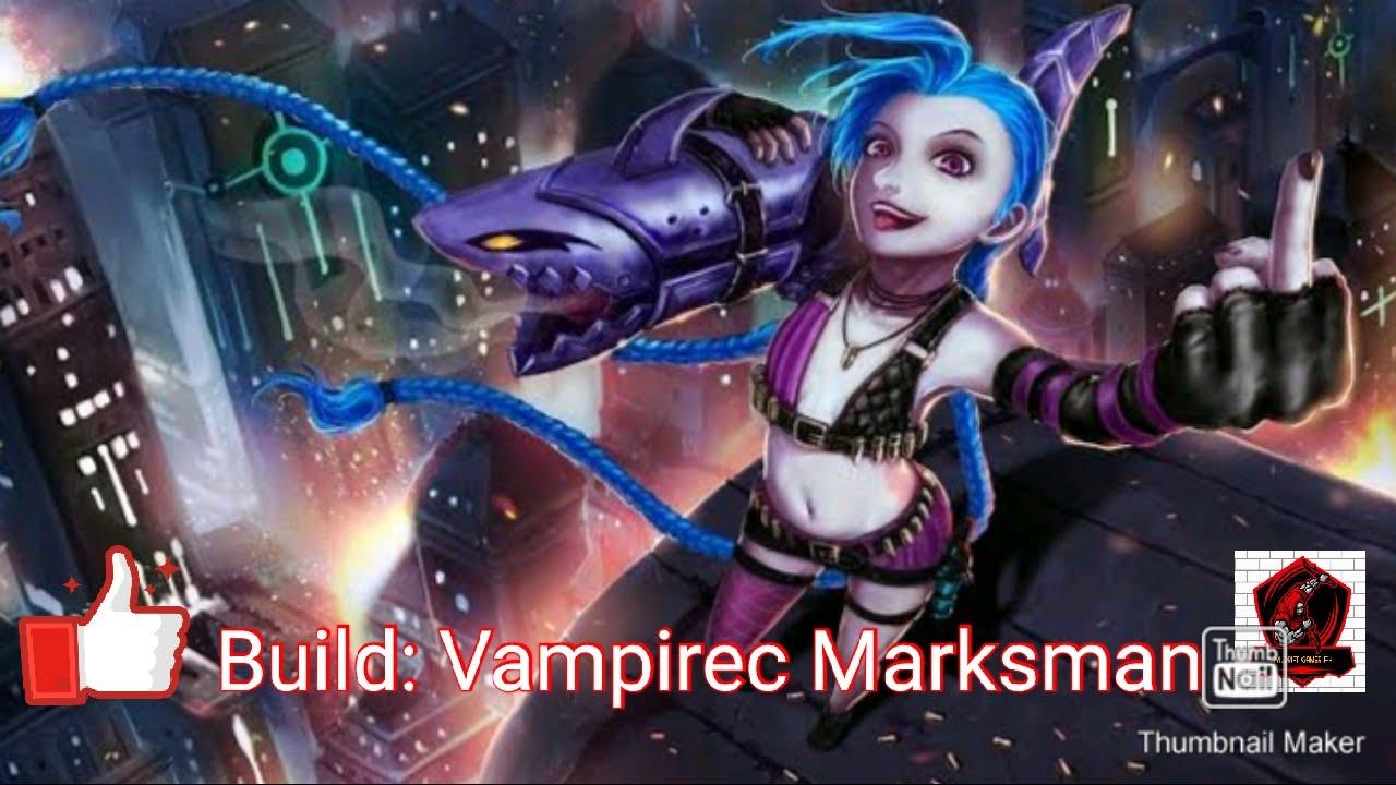 League Of Legends Wildrift Alpha Test Jinx Build Vampiric Marksman