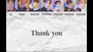 [Han/中字/Eng] GOT7 - Thank You 고마워 ( Eyes On You )