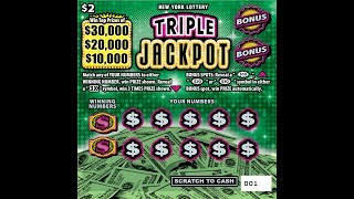 $2 - TRIPLE JACKPOT - WIN! Lottery Bengal Scratch Off instant tickets   NEW TICKET TUESDAY WIN!