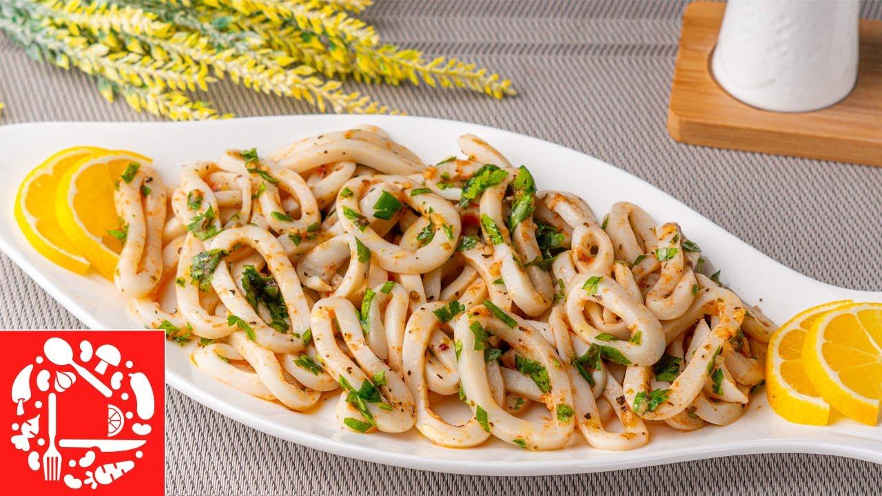 Рецепт закуски «Кальмары в маринаде»