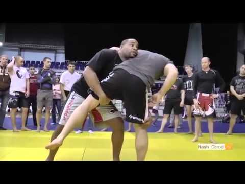 Daniel Cormier, Cain Velasquez - MMA seminar at russia - 2013