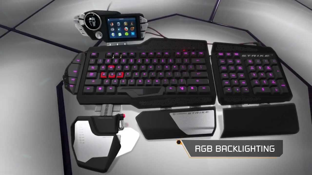 Mad Catz Cyborg S T R I K E 7 Gaming Keyboard Youtube