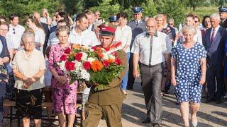 Upamiętniono matkę i syna zabitych za pomoc Żydom