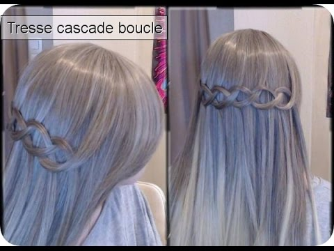 tuto coiffure tresse cascade boucle youtube. Black Bedroom Furniture Sets. Home Design Ideas