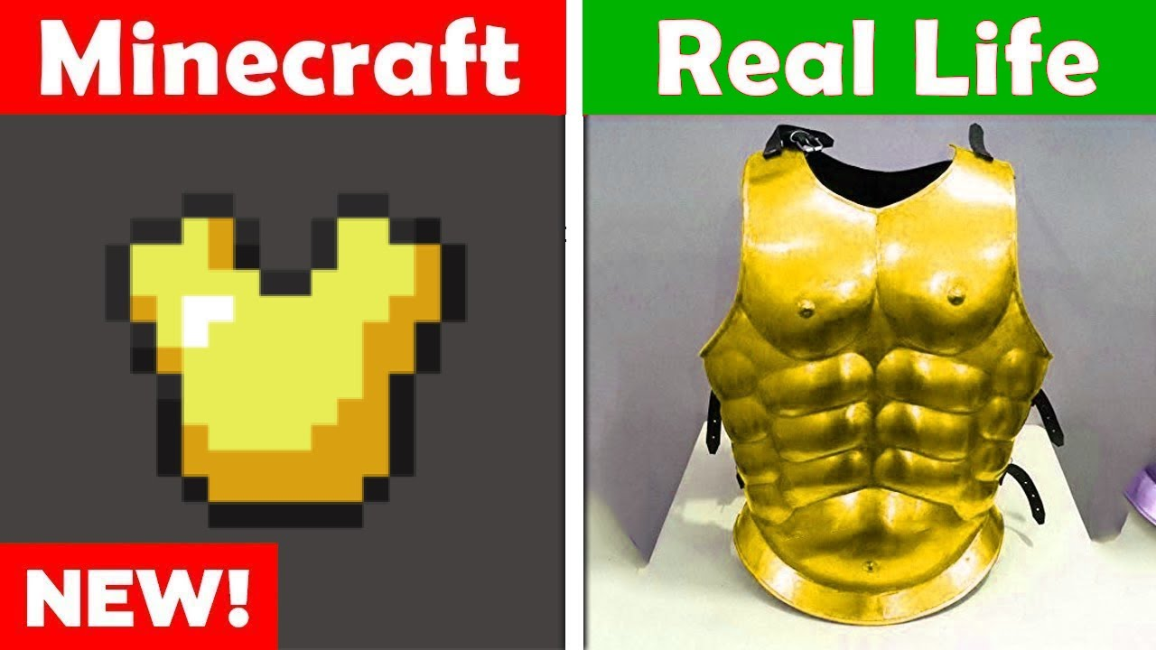 MINECRAFT GOLD CHESTPLATE IN REAL LIFE Minecraft vs Real Life