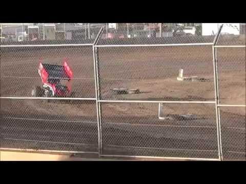 Plymouth Dirt Track Sprint Car Heat Race 5-23-15